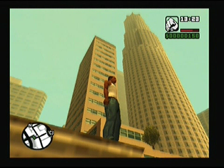 Grand Theft Auto: San Andreas PlayStation 2 I could skydive whole day from that building, nothing is more fun than that - remember to drop dead because then you don't have to wait for new parachute