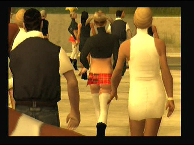 Grand Theft Auto: San Andreas PlayStation 2 Let CJ alone for 2-3 minutes and he will start checking girls' asses