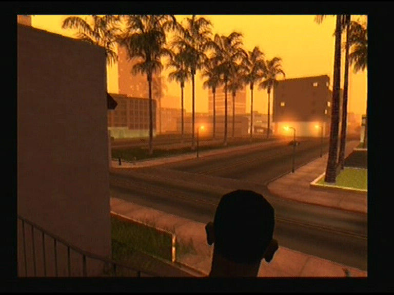 Grand Theft Auto: San Andreas PlayStation 2 Evening near the hospital, nice atmosphere