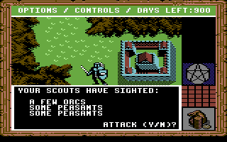 King's Bounty Commodore 64 Encountering enemies