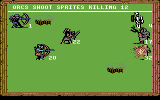 King's Bounty Commodore 64 Orc archers attacking sprites