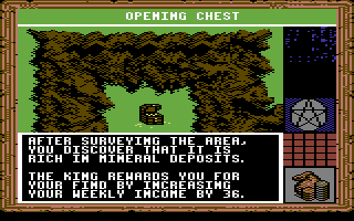 King's Bounty Commodore 64 Helpful discovery