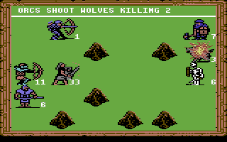 King's Bounty Commodore 64 Better let the pikemen attack the dwarfs, the other fighters are too weak
