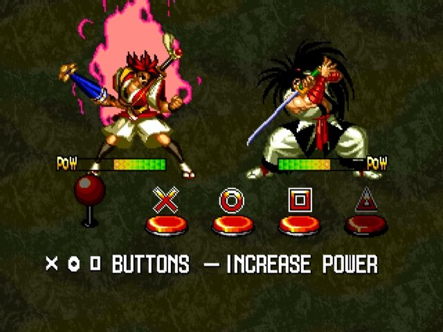 Samurai Shodown III: Blades of Blood PlayStation How to play Samurai Shodown III.
