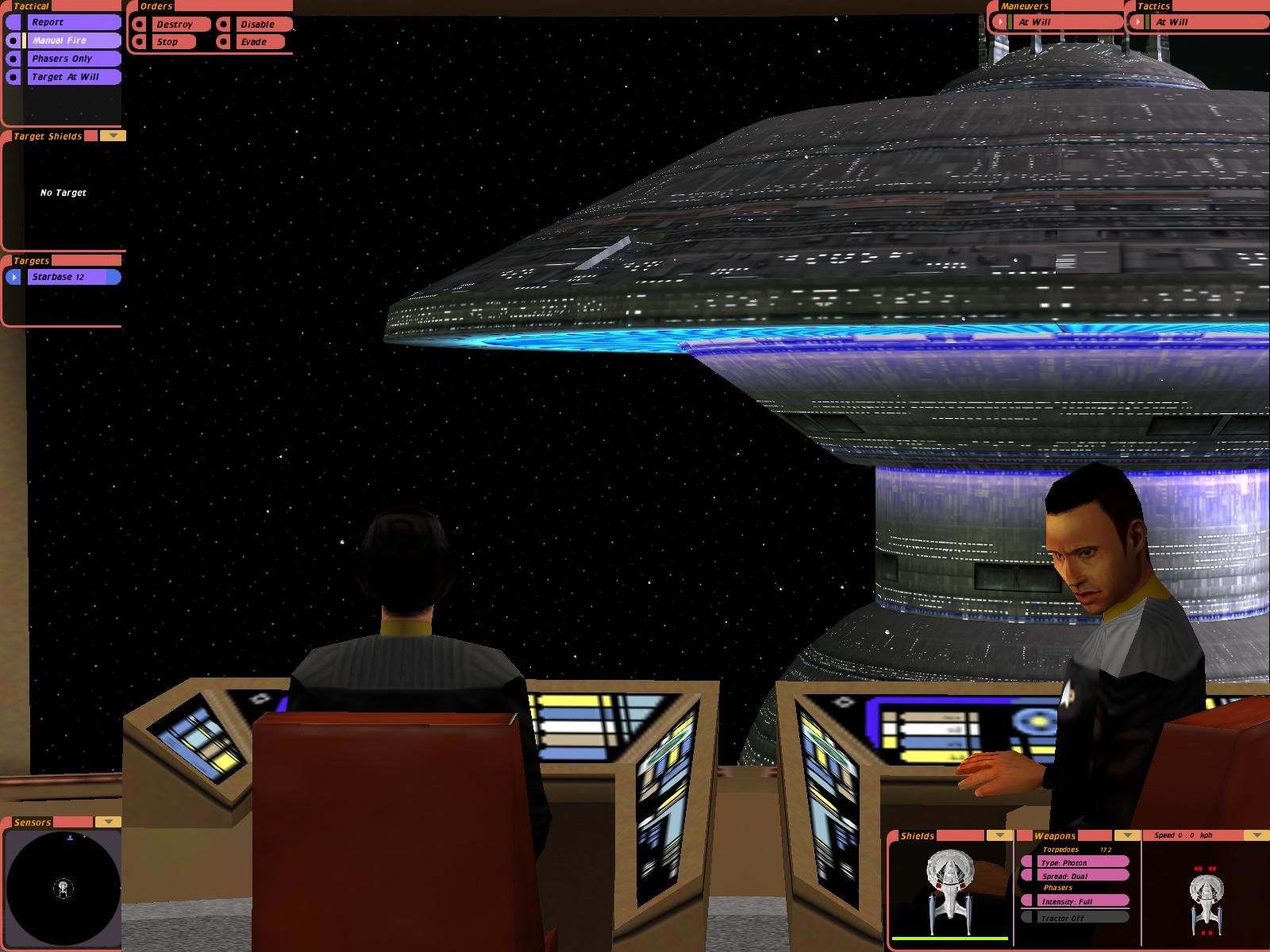 Star Trek: Bridge Commander Windows Approaching Starbase 12.