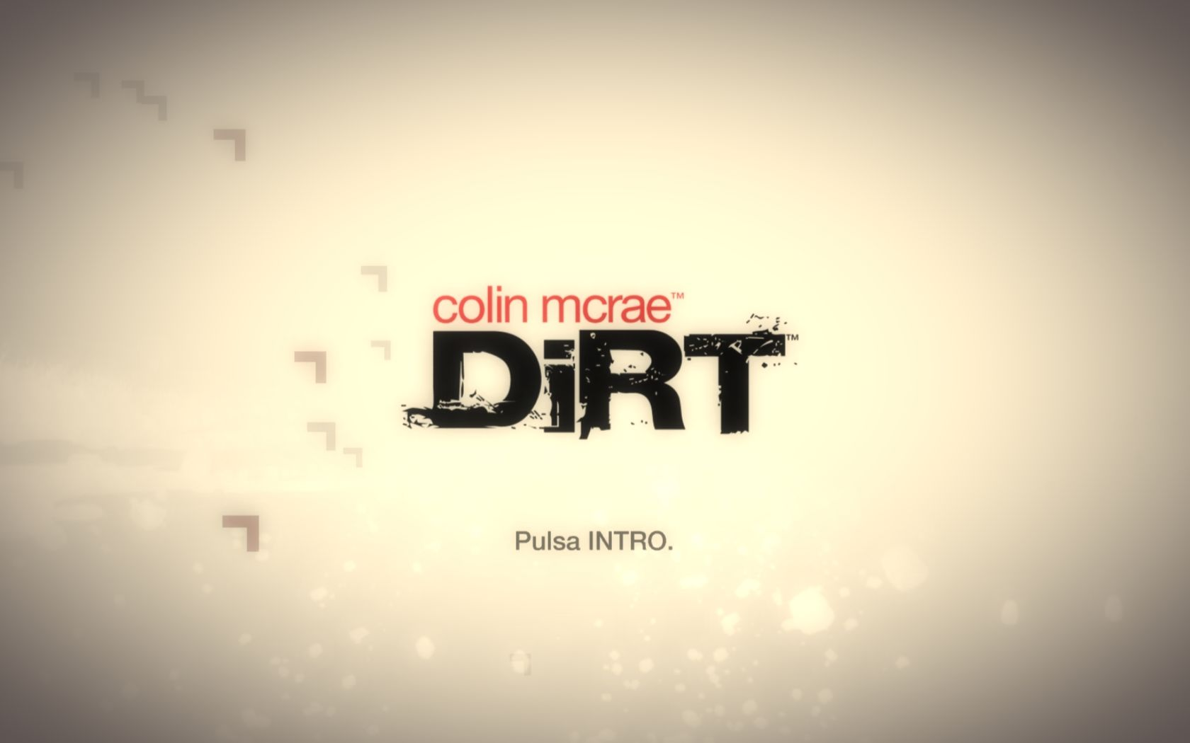 "DiRT Windows ""Welcome to Colin McRae Dirt!"""