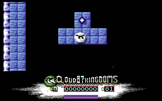 Cloud Kingdoms Commodore 64 About to collect a crystal
