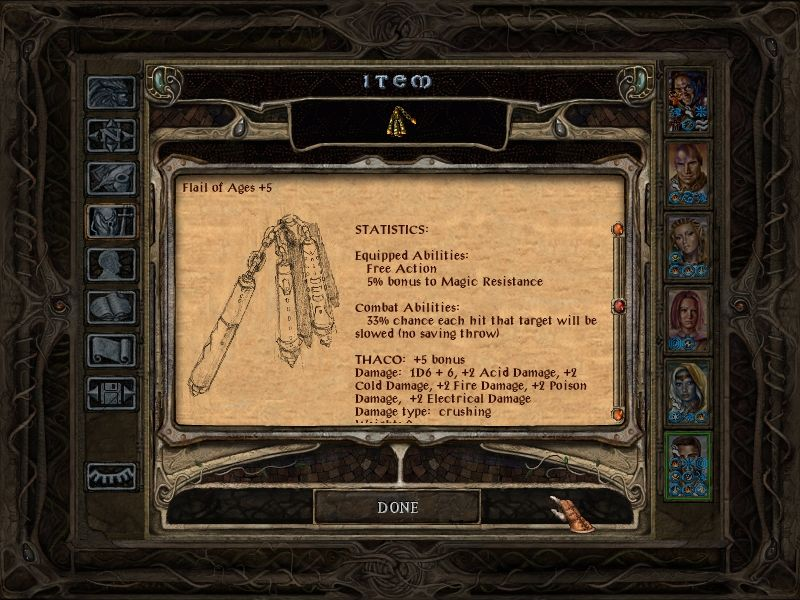Baldur's Gate II: Throne of Bhaal Windows The weapons are also significantly more powerful.
