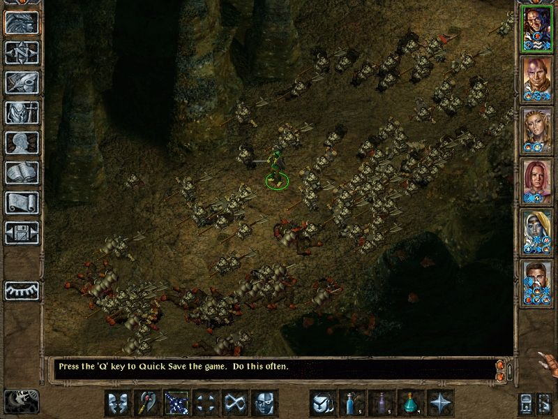 Baldur's Gate II: Throne of Bhaal Windows The 120+ corpses visible on this screen are about 1/4 of the total casualties of this battle.