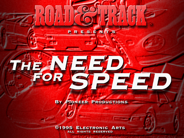 The Need for Speed DOS The Need for Speed splash screen