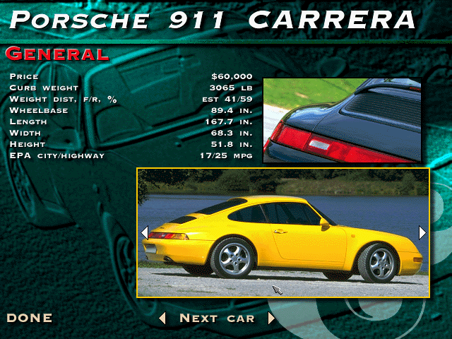 The Need for Speed DOS General info for the 911