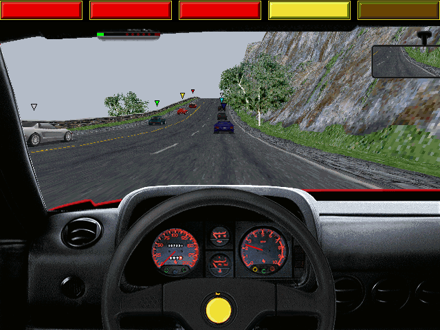 The Need for Speed DOS Inside the Ferrari 512TR at Vertigo Ridge