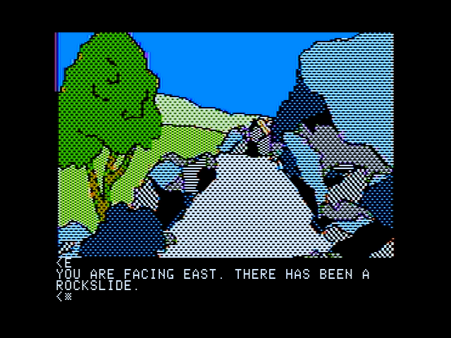 Death in the Caribbean Apple II Uh oh, there's been a rockslide here!