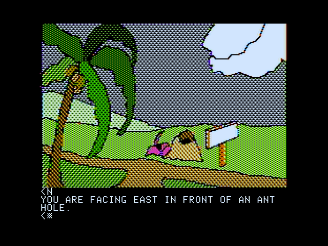 Death in the Caribbean Apple II Hmm, is that an ant hill blocking my path?
