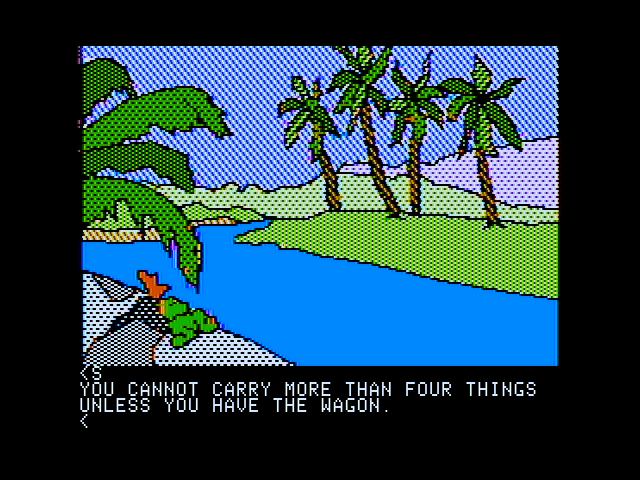 Death in the Caribbean Apple II My wagon was stolen so I can't carry any more!