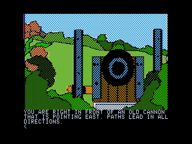 Death in the Caribbean Apple II An old cannon