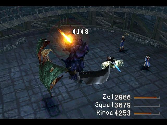 Final Fantasy VIII Windows A random battle at Ultimecia's Castle