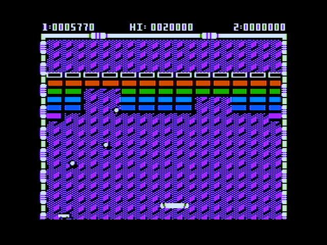 Arkanoid Apple II Gameplay on the first level