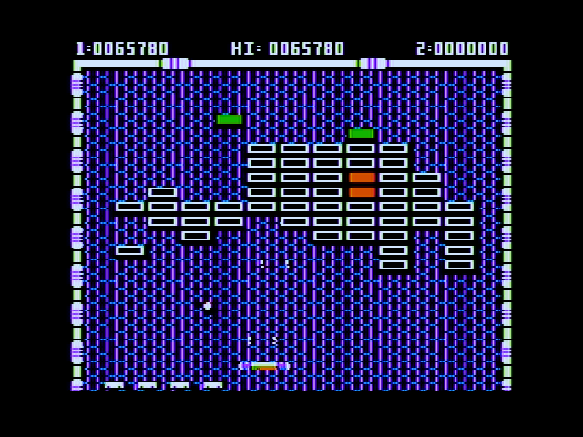 Arkanoid Apple II Blast bricks with lasers