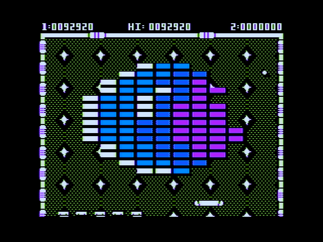 Arkanoid Apple II Beginning level 7.