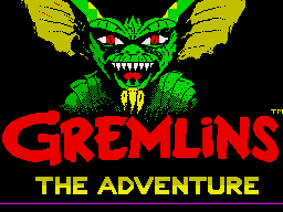 Gremlins: The Adventure ZX Spectrum Loading screen
