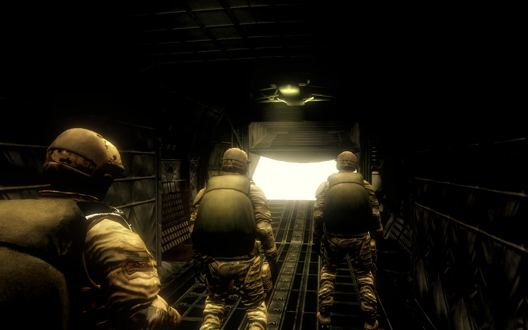 Tom Clancy's Ghost Recon: Advanced Warfighter Windows The beginning of the game. Deploying...