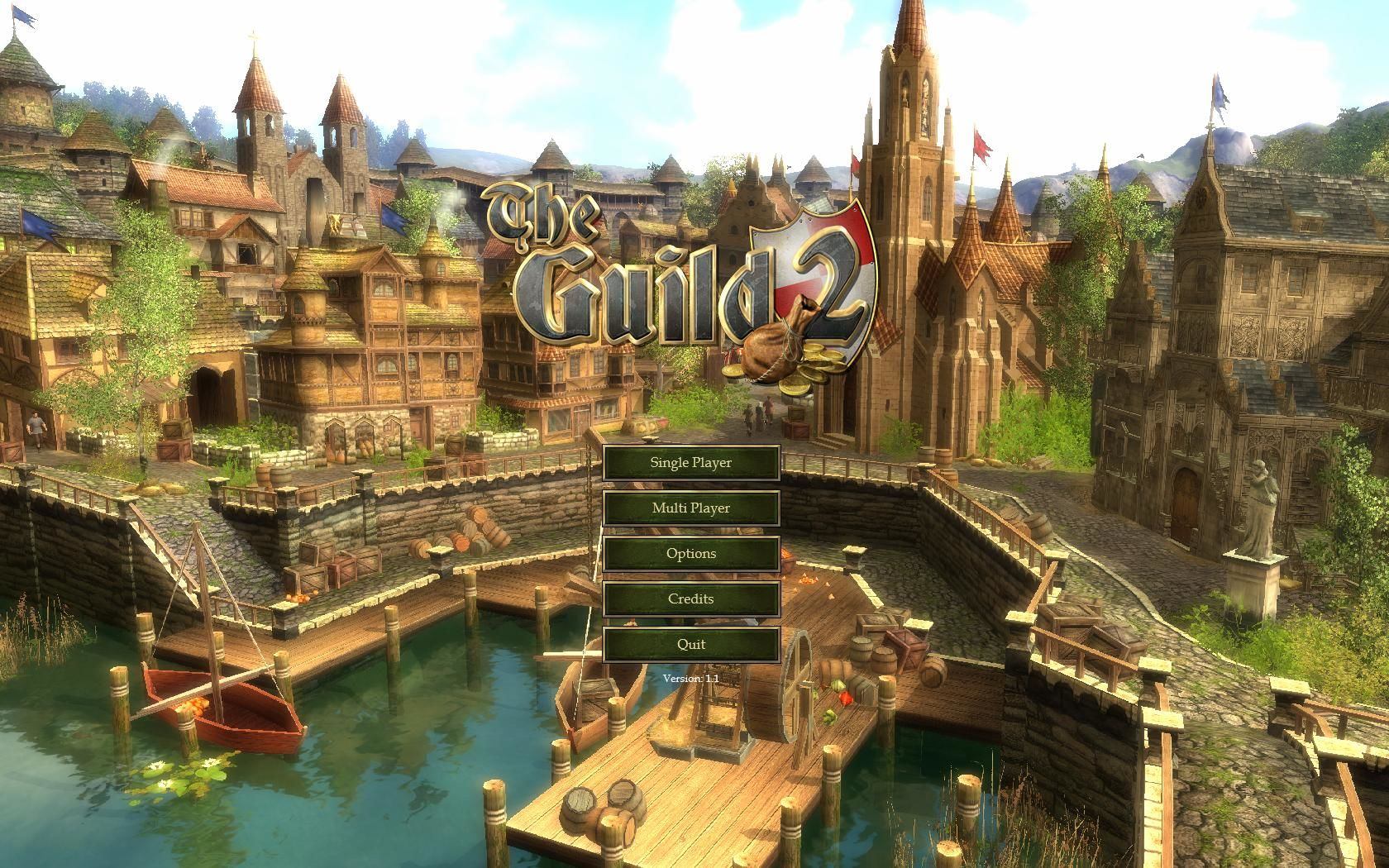 The Guild 2 Windows Title screen