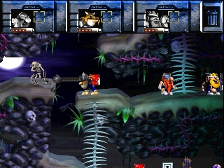 Norse by Norse West: The Return of the Lost Vikings PlayStation Erik swimming.