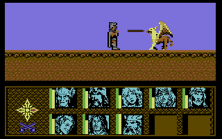 Dragons of Flame Commodore 64 Combat
