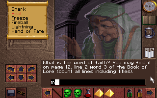 Lands of Lore: The Throne of Chaos DOS Egad! Copy protection...ah the good old days!
