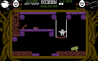 Dizzy: The Ultimate Cartoon Adventure Commodore 64 Important items are often guarded by enemies