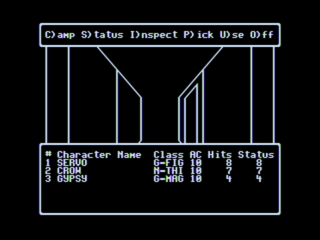 Wizardry V: Heart of the Maelstrom Apple II Entering the dungeon!