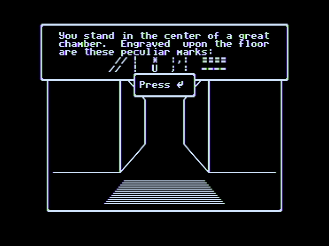 Wizardry V: Heart of the Maelstrom Apple II Hmm, have I found a clue?