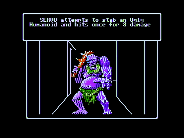 Wizardry V: Heart of the Maelstrom Apple II My attack on the ugly humanoid was successful!