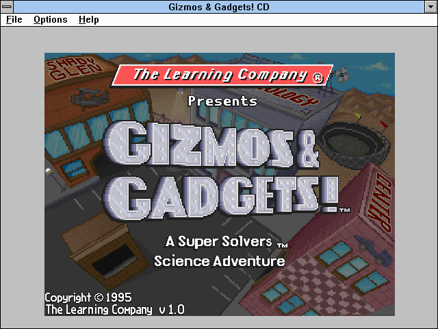 Super Solvers: Gizmos & Gadgets! Windows 3.x Title screen