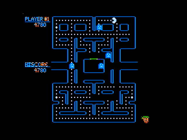 Pac-Man Apple II You can eat the ghosts when they are blue.