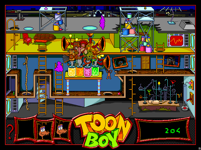 Stay Tooned! Windows 3.x Mini-game with the dog character