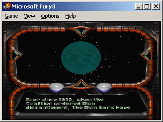 Fury³ Windows First mission briefing