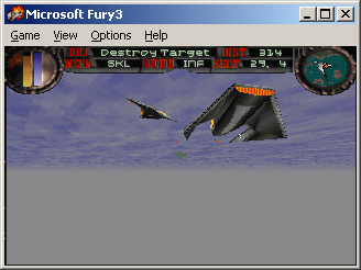 Fury³ Windows Two attack ships running away.