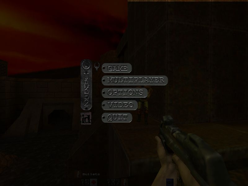 Quake II Windows Main menu