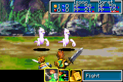Golden Sun Game Boy Advance Select your battle actions here...