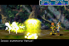 Golden Sun Game Boy Advance Venus Djinn in action!