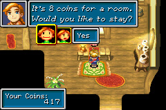Golden Sun Game Boy Advance Stay for a spell! The Inn in the Village of Vault...
