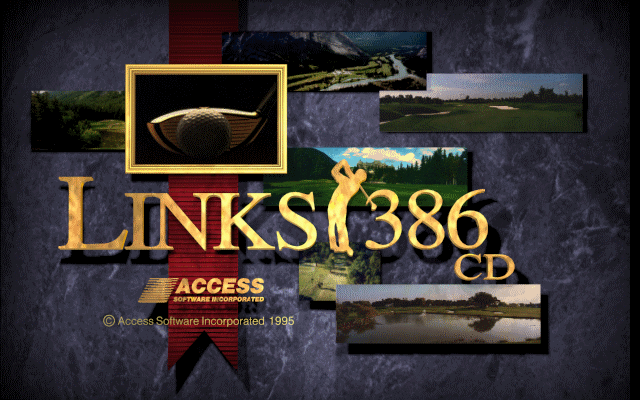 Links 386 CD DOS Title screen