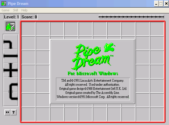 Pipe Dream Windows 3.x Title screen