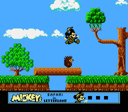Mickey's Safari In Letterland NES A porcupine in the forest