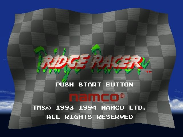 Ridge Racer PlayStation Title screen