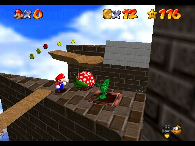Super Mario 64 Nintendo 64 This game has enemies from previous Mario instalments...