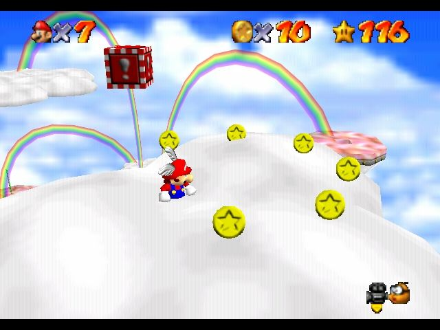Super Mario 64 Nintendo 64 Wing Mario over the rainbow