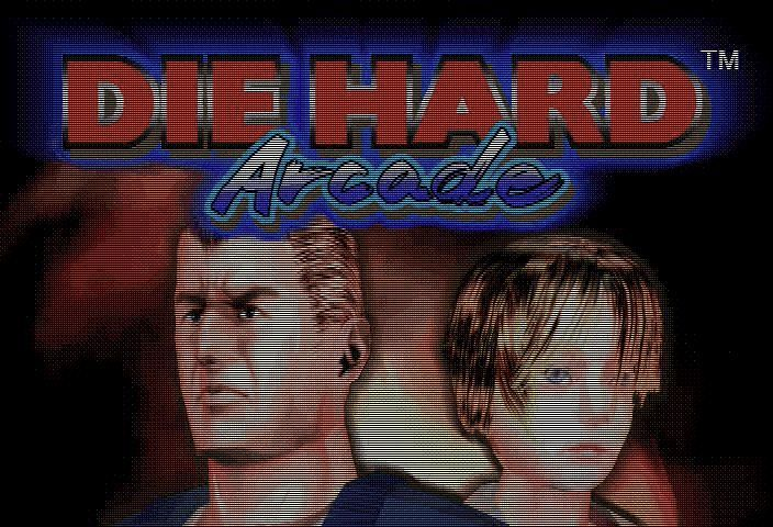 Die Hard Arcade SEGA Saturn Title Screen